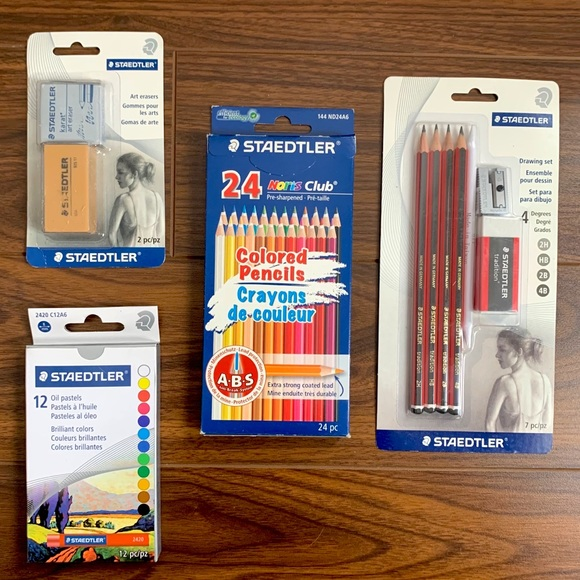 STAEDTLER art set: color pencil, soft pastel chalk